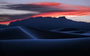 Picture sunset, desert, dunes