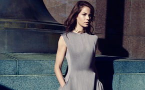 Picture dress, actress, hairstyle, brown hair, Michelle Monaghan, Michelle Monaghan, photoshoot, 2015, Yahoo Style, Alisha Goldstein