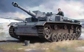 Picture assault gun, German self-propelled artillery, Sturmhaubitze 42, StuH 42, Sd Kfz 142/2