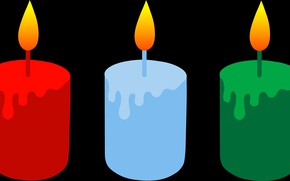 Picture flame, holiday, vector, candles, New Year, Christmas