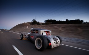 Picture Speed, Coupe, Old, Road, Custom, Usa, 1930, Hotrod, Ford Five Window