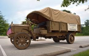 Picture retro, truck, 1918, Packard Truck