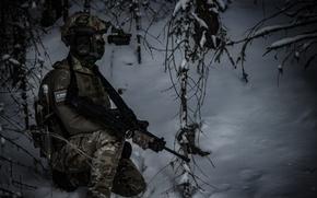 Wallpaper winter, equipment, soldiers