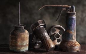 Picture bolt, nut, Vintage Tools