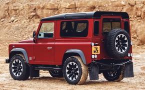 Picture red, SUV, Land Rover, 2018, Defender, quarry, V8, Defender Works V8, jubilee spezzare