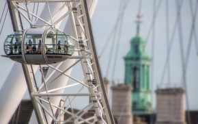 Picture london eye, sky, architecture, people, london