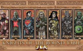 Picture fantasy, Wonder Woman, Batman, armor, comics, Green Lantern, Superman, legends, knights, artwork, warriors, superheroes, fantasy …