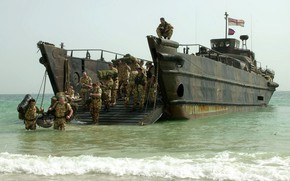 Picture soldier, sea, landing, Royal Marines, surface sea vehicle