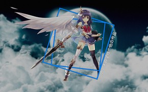 Picture the sky, clouds, angel, anime, anime, madskillz