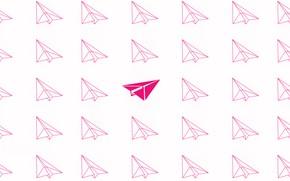Picture pink, minimalism, flies, minimalism, flying, pink, airplanes, airplanes, Paper airplanes, Paper airplanes