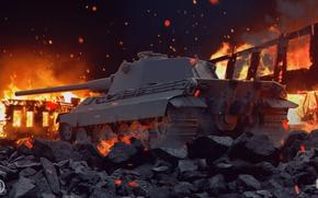 Picture tank, art, world of tanks, wot, tank, wotart, anderarts, е50м, E50, e50m, e50