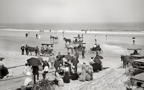 Picture sea, beach, retro, shore, FL, USA, 1904-the year