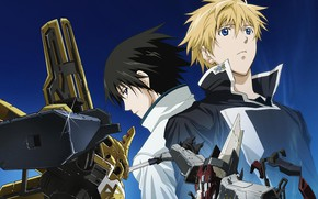 Wallpaper anime, guys, robots, Broken Blade