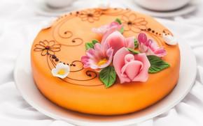 Picture cake, decor, glaze