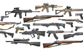 Picture weapons, guns, rifle, machines