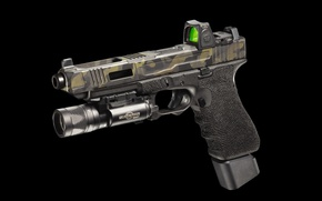 Wallpaper gun, flashlight, G34, FI Mk 3