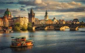 Wallpaper Czech Republic, bridge, The Charles Bridge in Prague, Prague