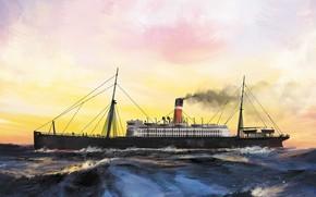 Picture wave, ship, canada, Transatlantic Ships