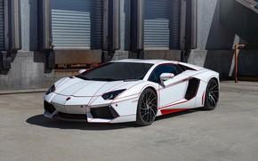 Picture Lamborghini, Aventador, Road, Wheels, Niche