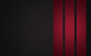 Picture red, abstraction, strip, creative, background, creative minimalism, red stripes, Wallpaper 1920x1080