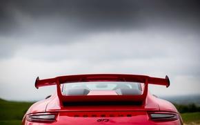 Picture car, Porsche, red, Porsche 911 GT3