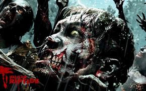 Picture zombie, blood, game, island, tatoo, face, Dead Island, Dead Island: Riptide, Dead Island Riptide, uzi, …