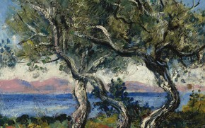 Picture landscape, picture, Francis Picabia, Francis Picabia, Olive Trees