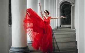 Wallpaper dress, girl, dance, ballerina