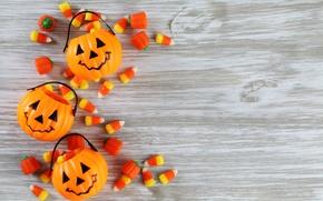 Wallpaper wood, floor, Halloween, pumpkins