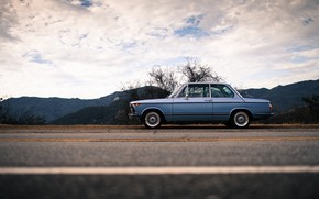 Picture The sky, Auto, Retro, BMW, Machine, BMW, Car, Old, Side view, Larry Chen, BMW 2002