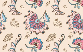 Picture flowers, background, texture, textiles, seamless background