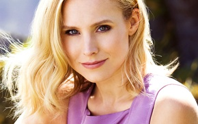Picture the sun, portrait, makeup, actress, hairstyle, blonde, Kristen Bell, Kristen Bell, Justin Campbell, JustJared