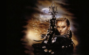 Picture Blonde, Sword, Cloak, Luis Royo, Luis Royo, Malefic, Nine tongues and one ear, Of pockets …