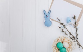 Picture paper, eggs, rabbit, Easter, Holiday, Verba, Socket