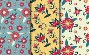 Picture flowers, Wallpaper, texture, patterns, flowers, leaves