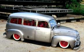 Picture Chevrolet, 1953, Hot Rod, Custom, Suburban