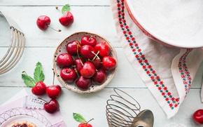 Picture cherry, ripe, delicious, juicy