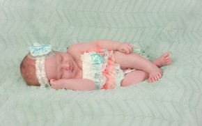 Picture sleep, girl, outfit, blanket, baby