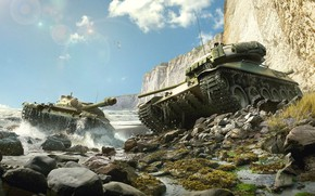 Wallpaper Wargaming Net, World of Tanks, WoT, THE T-62A, World Of Tanks, TVP T 50/51