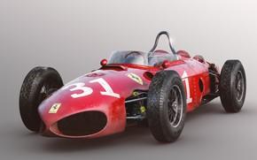 Picture red, car, Ferrari 156