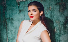Picture look, background, wall, portrait, makeup, actress, brunette, hairstyle, beauty, in white, actress, Indian, bollywood, Indian, …