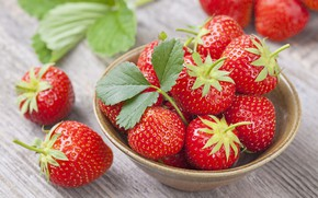 Picture tree, table, Red, Cup, strawberry, berry