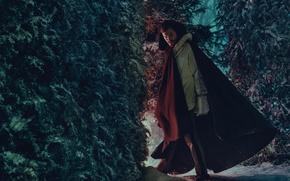 Picture winter, forest, snow, trees, photoshoot, Jamie Dornan, Jamie Dornan, Norman Jean Roy, L'uomo Vogue