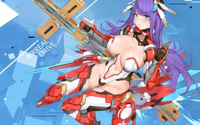 Picture look, girl, weapons, fate/grand order