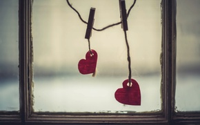 Picture heart, background, window