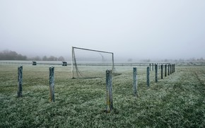 Wallpaper gate, football, field