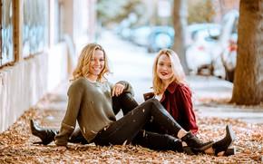 Picture autumn, smile, girls