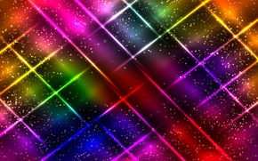 Wallpaper colorful, abstract, background, neon, glittering
