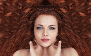 Picture Beautiful, woman, hair, floor