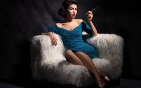 Picture girl, model, vintage, vintage, Yulia